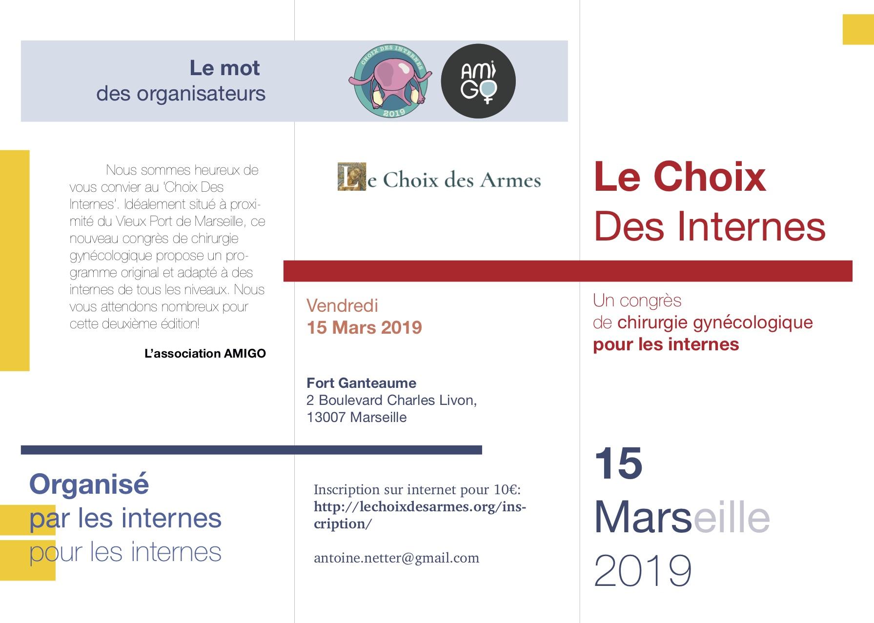 brochure choix des internes 2019
